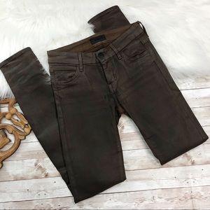 Koral | Premium Dark Brown Wash Skinny Leg Jeans